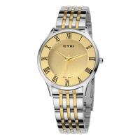 艾奇(EYKI)石英表 新款罗马数字刻度全钢带简约情侣手表 男表