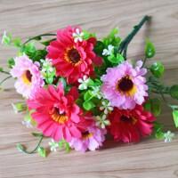 仿真牡丹花客厅餐桌花束插花摆设绢花摆件假花装饰塑料花干花布花抖音