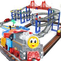 橙爱立昕 高速交通线 双轨道火车轨道车 儿童益智拼搭玩具 3-7岁 儿童礼物