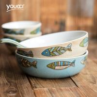北欧创意陶瓷菜碗 家用面碗餐厅水果沙拉碗甜品碗汤碗麦片碗