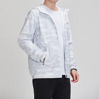 adidas男服外套夹克2019新款迷彩梭织休闲运动服DW4651