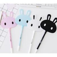 创意文具用品儿童礼物卡通兔子扇子圆珠笔可爱小学生奖品礼品 颜色随机