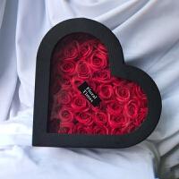 玫瑰花康乃馨香皂花礼盒 送老师妈妈长辈礼品七夕情人节送花 表白