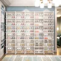 �易鞋柜家用防�m收�{神器超大容量鞋架子多�咏M�b���型�T口塑料
