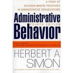 【预订】Administrative Behavior, 4th Edition