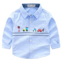 宝宝长袖衬衫新款童装儿童上衣秋装小童衣服男童翻领衬衣