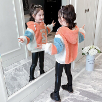 儿童装女孩秋冬款带帽加绒加厚冬装卫衣2019新款洋气保暖上衣