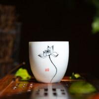 【�豳u新品】紫砂茶杯手�L茶杯子功夫茶具品茗杯�伪���人主人杯家用