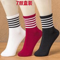 女士棉袜秋冬天女装保暖袜子女式厚袜舒适条纹女袜