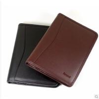 前通J06-A501皮面拉链笔记本8寸内页盒装礼品经理夹