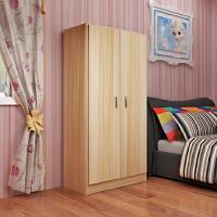 衣柜木质2门儿童衣橱板式柜子卧室组装宝宝储物柜经济型成人