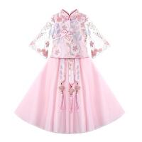 汉服女童裙子夏装儿童汉服女唐装礼服古装夏装中国风连衣裙