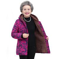 老年女装6070岁奶奶装加绒棉衣老太太加厚保暖冬季棉袄妈妈装 +裤子+帽子