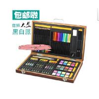 好吉森鹤/北京50元包邮/雄狮木盒黑白派 儿童绘画组合套装 水彩颜料 蜡笔 画笔 彩铅/彩粉棒850A-82件绘画套装/铅笔/水彩笔-1套+送品6958