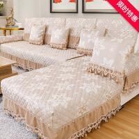 沙发垫欧式布艺四季通用防滑坐垫子现代简约全包沙发套巾罩盖定制