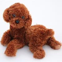 可爱仿真泰迪狗公仔毛绒玩具贵宾犬小狗布娃娃狗年吉祥物新年礼物
