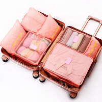 旅行收纳袋7件套旅游鞋子衣物内衣行李箱衣服整理收纳包套装