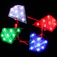 自行车尾灯USB充电山地车夜间警示灯激光灯骑行装备配件单车前灯