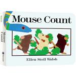 英文原版绘本 Mouse Count 老鼠数数 纸板书 吴敏兰书单 123 第49本 名家推荐
