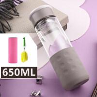 玻璃杯便携男女学生水杯大容量韩版创意潮流花茶随手泡茶杯子 抖音