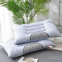 磁石定型枕头 荞麦壳薰衣草护颈枕芯枕头一只装 天蓝色