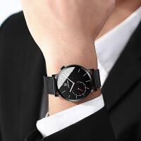 男士手表男表学生石英表防水简约时尚潮流腕表