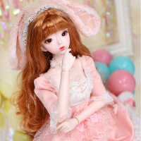 【2件5折】芭比娃娃 新年礼物 精品 德必胜娃娃 十二生肖系列60cm改装娃娃仿真玩具公主bjd换装洋娃娃 兔-萌小兔