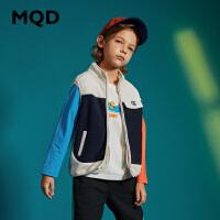 【2件3折券后价:70】MQD童装男童摇粒绒马夹中大童外套2020秋季新款儿童韩版针织卫衣