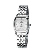 艾奇(EYKI)方形钢带手表情侣表  简约时尚手表 日历 镶钻刻度 石英表女表 8582