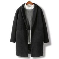 男士风衣2018新款冬季毛呢大衣男中长款韩版宽松加厚青年呢子外套