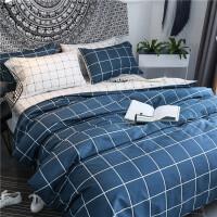 ins风简约欧式全棉网红四件套被单床上被子男纯棉床单被套4三件套定制