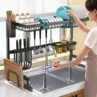 厨房水槽置物架多功能碗架台面用品刀碗碟收纳架洗碗池沥水架