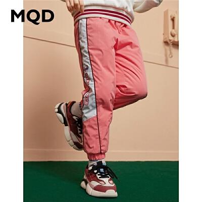 【1件3折:219】MQD童装加厚女童休闲裤2019冬季新款儿童保暖羽绒裤