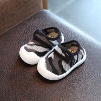 亲子装秋季新款0--2岁潮男宝宝软底防滑网鞋透气休闲女婴儿学步鞋单鞋 灰色 14码内长115cm
