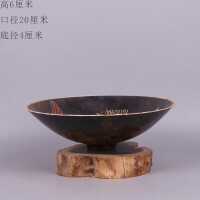宋定窑乌釉 刻凤凰图碗旧货古玩仿古瓷器 做旧古董老物件 收藏摆件 默认款式