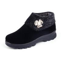 妈妈鞋加绒加厚保暖女鞋中老年奶奶棉鞋老北京布鞋