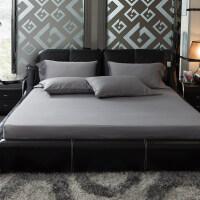 床笠单件纯棉1.8m床长绒棉贡缎1.5m全棉席梦思保护套床垫套罩定制