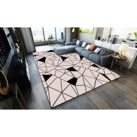 地毯客厅现代简约客厅满铺沙发茶几地毯家用几何北欧卧室床边毯可机洗定制