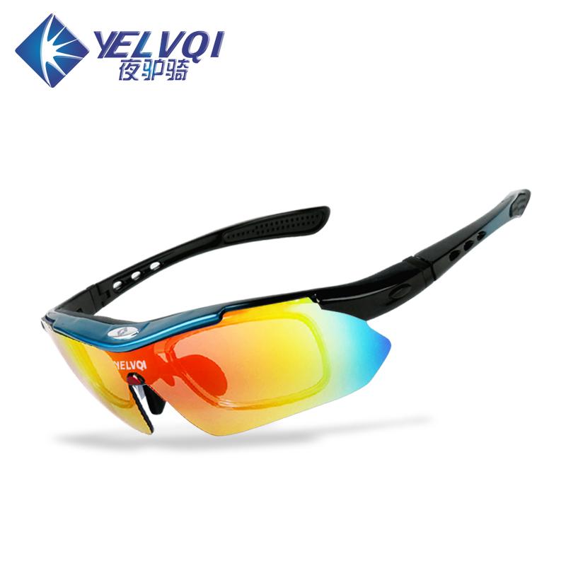 骑行眼镜偏光户外运动近视男女跑步山地自行车防沙风护目眼镜装备