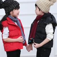 外穿儿童羽绒棉马甲连帽冬季加厚保暖中大童男童8女童小孩马夹9岁