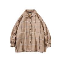 韩版宽松男士毛呢外套冬季潮流加厚呢子大衣帅气风衣 X