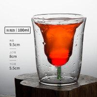 鸡尾酒杯白酒杯烈酒杯美人鱼杯双层玻璃杯红酒杯酒吧夜场鸡尾酒杯