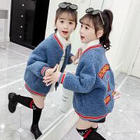 韩版洋气加厚童装女孩上衣潮2019秋冬季新款中大儿童女童外套