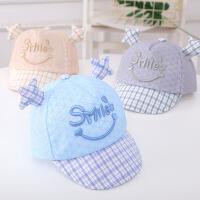 宝宝帽子婴幼儿网眼太阳帽夏季儿童鸭舌帽男童女童透气遮阳帽