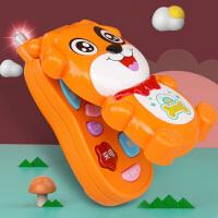 儿童手机玩具翻盖一岁宝宝益智早教音乐1宝宝可咬仿真电话0岁女孩