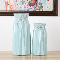 北欧小清新白色陶瓷花瓶现代简约真假花干花花器客厅家居装饰摆件