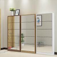 翻斗鞋柜超薄17简易组装客厅鞋柜门口欧式多功能镜面高柜经济型 组装