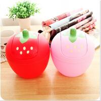 创意潮流可爱草莓迷你桌面垃圾桶 韩式甜美摇盖式收纳桶