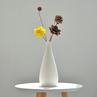 干花装饰摆件客厅插花小清新简约现代文艺白色陶瓷花瓶北欧风格
