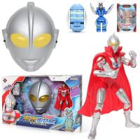 泰迦奥特曼玩具变形蛋模型 14关节可动带披风面具迪迦泰罗变身器对战怪兽男孩玩具礼物